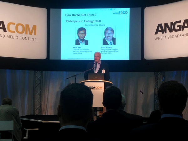Mark Dzuban, President and CEO, SCTE/ISBE presents at ANGA COM 2015 in Cologne, Germany.